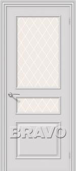 Двери Межкомнатные Опера К-33 (Белый) ПО СТ- Кристалл
