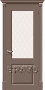Двери Межкомнатные Скинни-13 Mocca White Сrystal