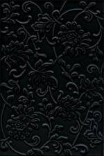 Керамическая плитка Kerama Marazzi Аджанта черный цветы 8217