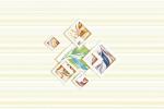 Керамическая плитка Шахтинская плитка (Unitile) Романтика бежевая декор 01