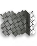 Керамическая плитка ДСТ Плитка зеркальная серебро матовое + графит С70Г30