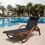 Мебель Садовая мебель Шезлонг-лежак Мальта черный AFM-511
