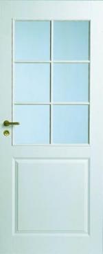 Двери Межкомнатные Дверь белая под 6 стекол №2