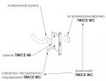 Двери Дверная фурнитура Комплект заверток для системы TWICE WC MAB античная бронза