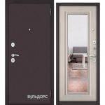 Двери Входные Бульдорс ECONOM Ларче бьянко E-140 mirror