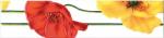Керамическая плитка М-Квадрат Бордюр Моноколор Маки Желтый-Красный 270041