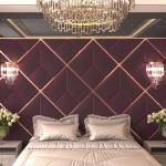 Стеновые панели 3D панели Avrora Maroon