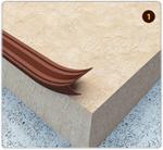 Подложка, порожки и все сопутствующие для пола Порожки Лента антискользящая напольная 40 мм