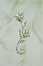 Керамическая плитка Шахтинская плитка (Unitile) София декор тюльпан зеленый