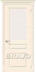 Двери Межкомнатные Скинни-15.1 Cream White Сrystal