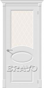 Двери Межкомнатные Скинни-21 Whitey White Сrystal