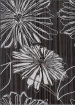 Керамическая плитка Березакерамика (Belani) Декор Ретро цветок 2 черный