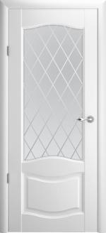 Двери Межкомнатные Лувр-1 белый мателюкс ромб