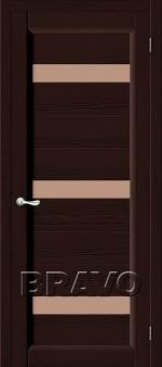 Двери Межкомнатные Леон Т-19 (Венге) ПЧО СТ- Сатинато