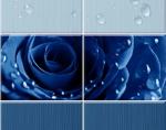 Стеновые панели ПВХ Стеновые панели с 3D эффектом Капли росы синий