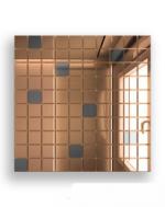 Керамическая плитка ДСТ Плитка зеркальная бронза+графит Б90Г10