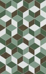 Керамическая плитка Шахтинская плитка (Unitile) Веста зеленый декор 02