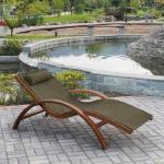 Мебель Садовая мебель Шезлонг-лежак Мальта оливковый AFM-503