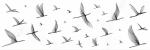 Керамическая плитка Meissen Декор-вставка Elegance птицы белый EG2U051