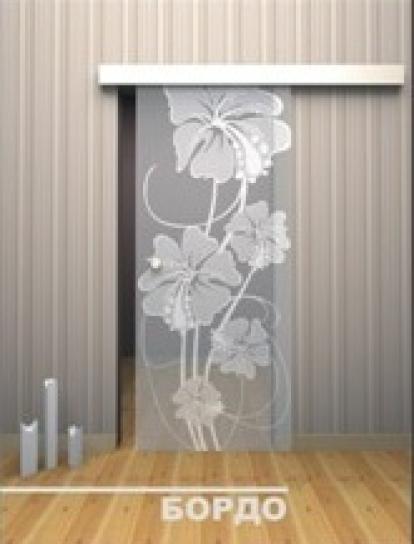 Изображение Двери Межкомнатные Бордо прозрачная