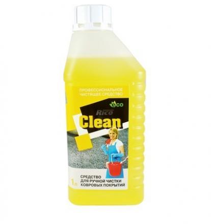 Изображение Паркетная химия Rico Средство для ручной чистки ковровых покрытий Rico Clean 1л (1/8)