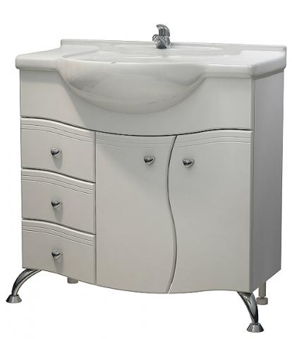 Изображение Мебель Мебель для ванной Тумба Гиацинт 85 NEW DB3 белая