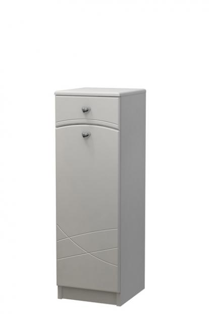 Изображение Мебель Мебель для ванной Шкаф-полупенал 30 с фрезой МВ1 белый СВ