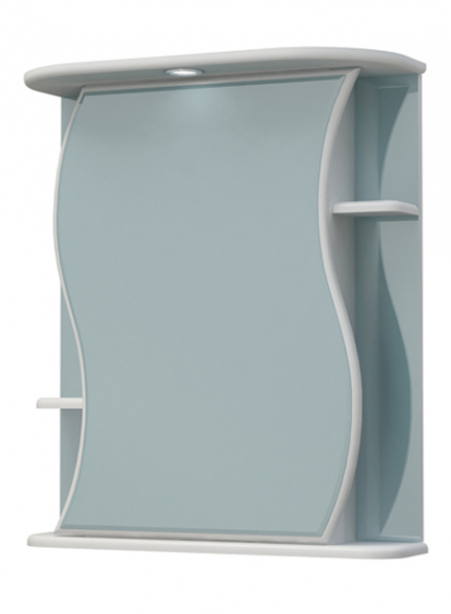 Изображение Мебель Мебель для ванной Шкаф-зеркало Бергамо 60С белый