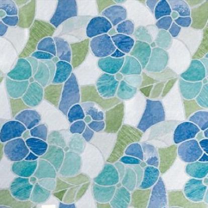 Изображение Самоклеющаяся пленка D-C-Fix Цветная витражная цветы голубые