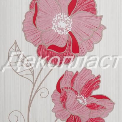 Изображение Стеновые панели ПВХ Камелия цвета вишни 234/2