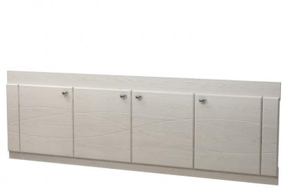 Изображение Мебель Мебель для ванной Экран под ванную 17 (с рисунком) дуб выбеленный