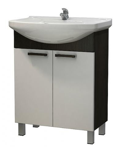 Изображение Мебель Мебель для ванной Тумба Капучино NEW 65 венге темный/белый