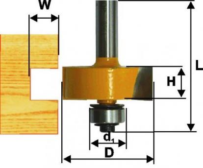Изображение Строительные товары Инструменты Фреза кромочная фальцевая ф31,8х13мм хвостовик 8мм