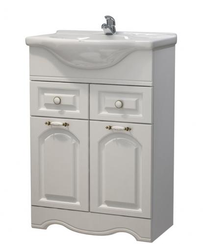 Изображение Мебель Мебель для ванной Тумба Прованс 60 DВ2 ясень белый