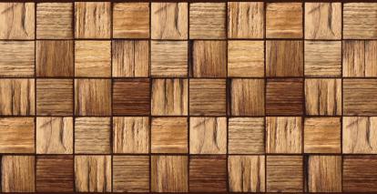 Изображение Стеновые панели Листовые Деревянная циновка