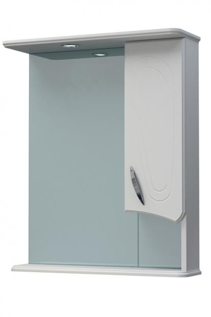 Изображение Мебель Мебель для ванной Шкаф-зеркало Палермо 60С белый