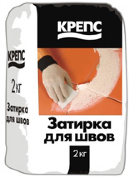 Изображение Строительные товары Строительные смеси КРЕПС Затирка влагостойкая серая (20 кг)