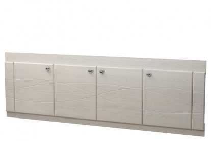Изображение Мебель Мебель для ванной Экран под ванную 18 (с рисунком) дуб выбеленный