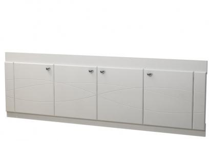 Изображение Мебель Мебель для ванной Экран под ванную 18 (с рисунком) белый