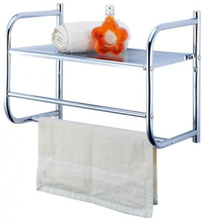 Изображение Товары для дома Аксессуары для ванной Вешалка для полотенец настенная с полкой BR32