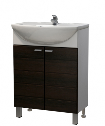 Изображение Мебель Мебель для ванной Тумба Штрокс 60 венге темный