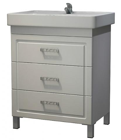 Изображение Мебель Мебель для ванной Тумба Кватро 70 DB3 белая