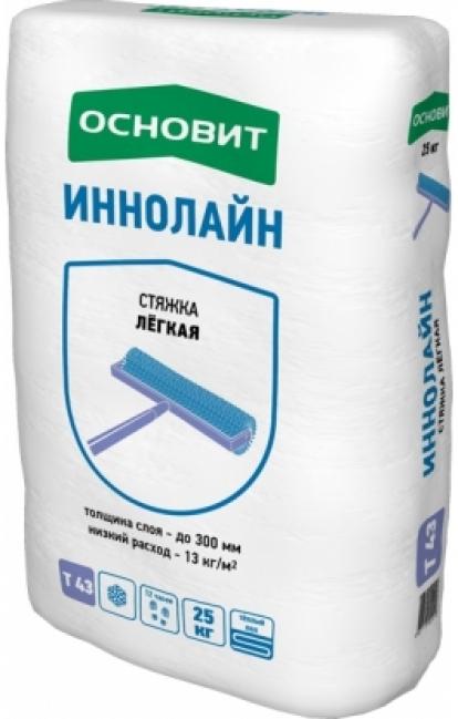 Изображение Строительные товары Строительные смеси Стяжка пола ИННОЛАЙН Т-43