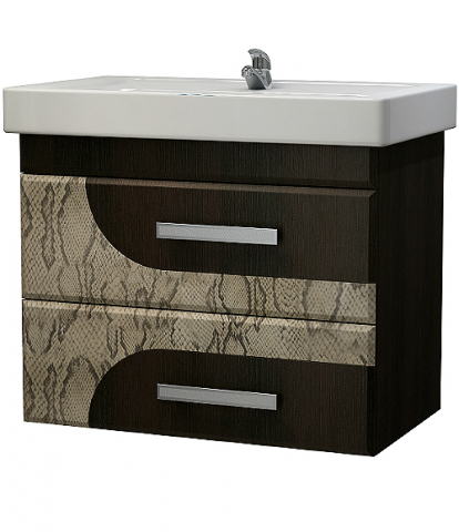 Изображение Мебель Мебель для ванной Тумба Серпентес SB2 венге темный/питон