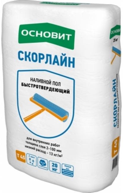 Изображение Строительные товары Строительные смеси Наливной пол СКОРЛАЙН Т- 45