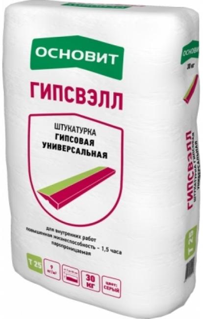 Изображение Строительные товары Строительные смеси Штукатурная смесь ГИПСВЭЛЛ Т-25 Белая