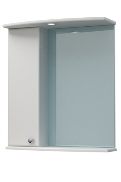 Изображение Мебель Мебель для ванной Шкаф-зеркало Крокус 50С белый левый